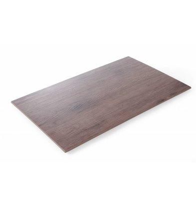 Hendi Plateau GN1 / 2 | Melamin Holz Farbe | 325x265x10 (h) mm