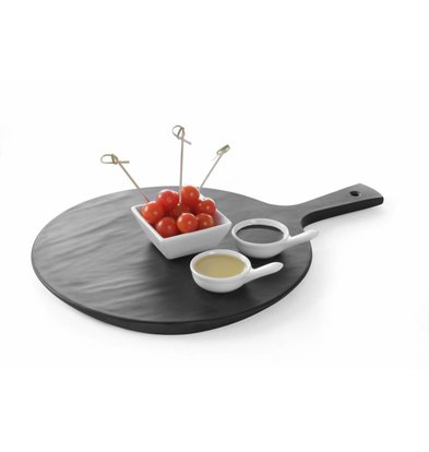 Hendi Platter with Handle AROUND | Melamine Slate Color | 424x300x15 (h) mm