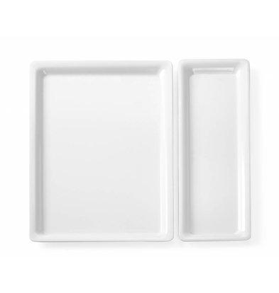 Hendi Tablett aus Melamin GN1 / 3 | Kleine Ridge | 325x177x20 (h) mm
