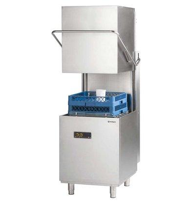 XXLselect Pass Trough Dishwasher 50x50cm | Soap dispenser + rinse aid dispenser | 400V
