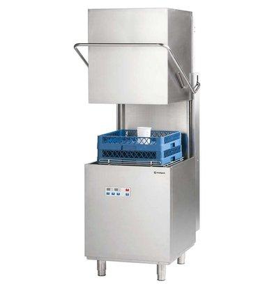 XXLselect Power digitalen Korbdurchschub- Geschirrspüler 50x50cm | Seife und Klarspüler | Wasserdruckerhöhungspumpe | 400V