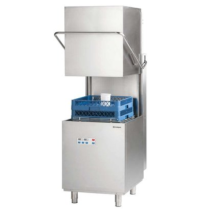 XXLselect Power Digital Pass Trough Dishwasher 50x50cm | Soap and rinse aid dispenser | Drain pump | 400V