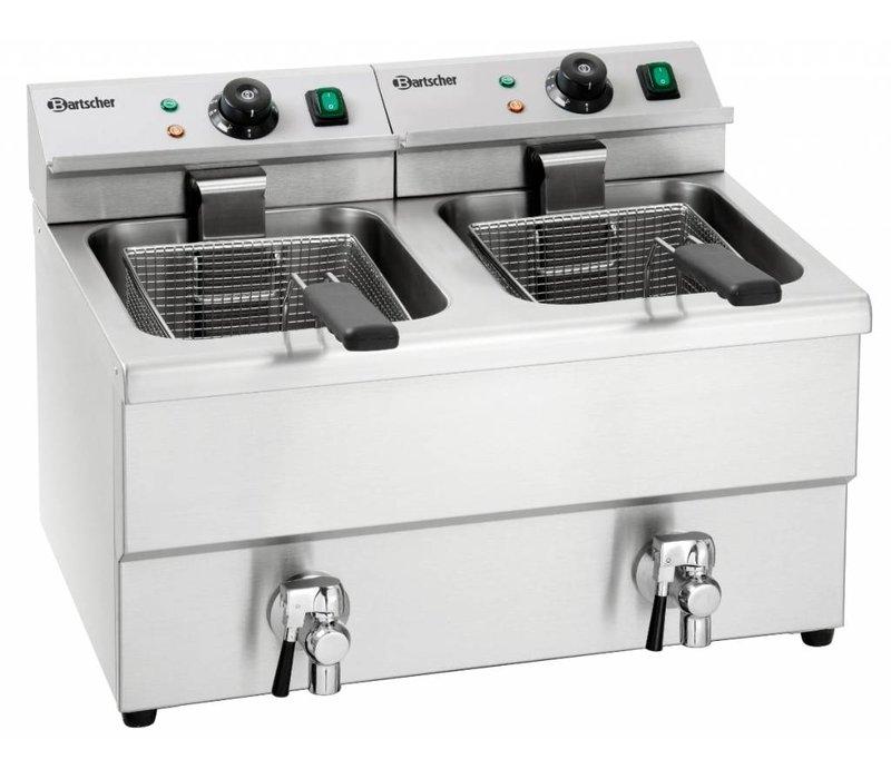 Bartscher Electric Fryer   With Bleed taps   2x8 Liter   2x3,5kW   580x550x (H) 410mm
