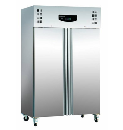 Combisteel Freezer Stainless steel + ALU | Static, 1200 Liter | 6x GN2 / 1 | 700W | 1345x815x2010 (h) mm