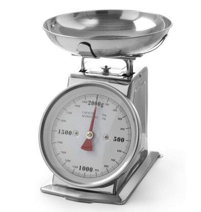 Hendi Edelstahl-Griffschalen mit Schüssel | max 2 kg -. | Pro 10g