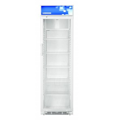 Liebherr Display White Refrigerator with Glass Door | Liebherr | 411 Liter | FKDv 4213 | 600x687x (H) 2010mm