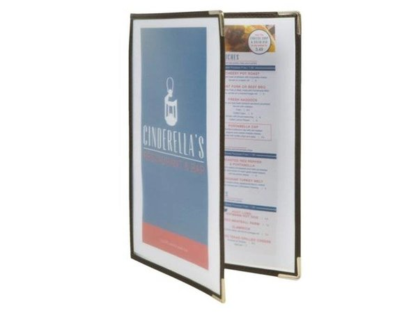 Securit Menu Crystal A4 - Doubles - Per 3 pieces