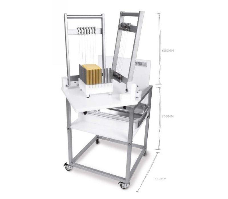 Boska Käse Cuber Pro 16mm | Inkl. Tuimeltafel 700mm | 430X430mm