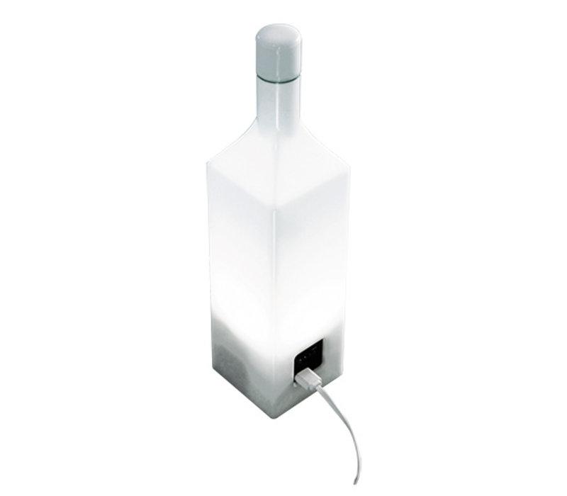 Emga Flaschen-Design-Energien-Bank | 12 LED-Farben | 80x80x (H) 340mm
