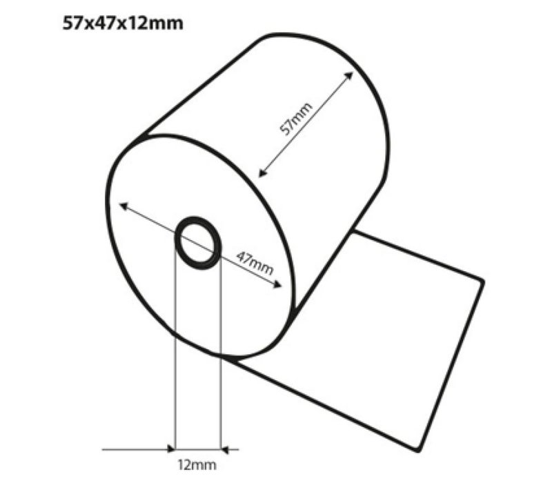 50 Pinrollen 57x47x12mm