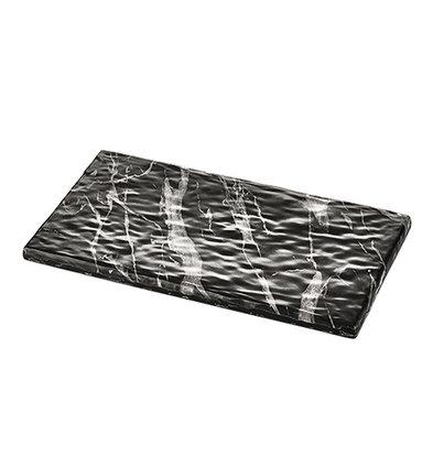 XXLselect Serve Plateau Black Marble Look | High quality Melamine | High fracture resistance | 1/3 GN