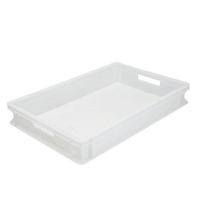 XXLselect Stacking Plastik Weiß | Gut für Pizza Globes | 600x400x (H) 75 mm