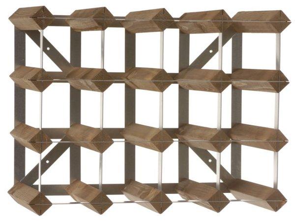 XXLselect Weinregal 16 Flaschen - 42 x 22,8 x (h) 32,4cm - Holz / Metall