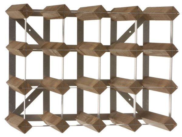 XXLselect Wine rack 16 bottles - 42 x 22.8 x (H) 32,4cm - Wood / Metal
