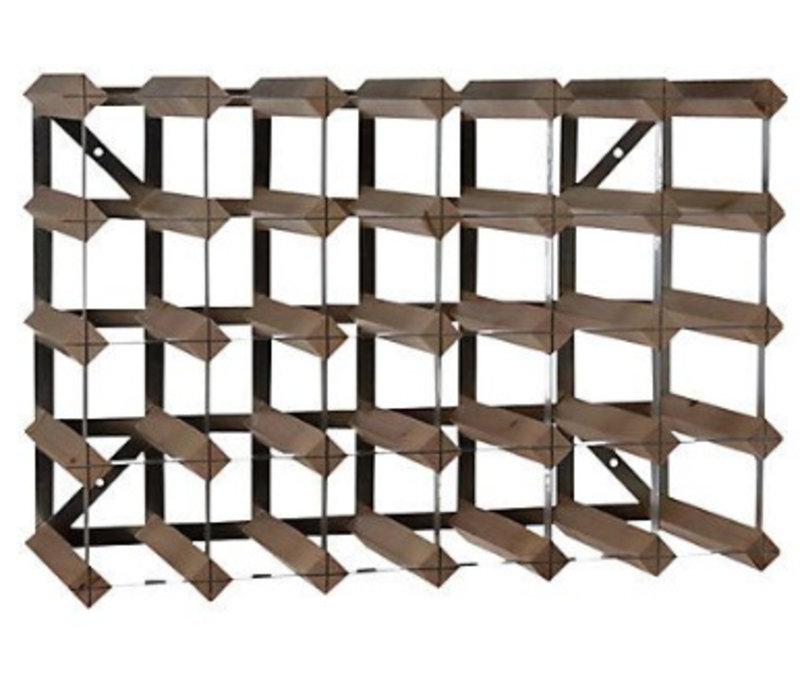 XXLselect Weinregal 30 Flaschen - 61,2 x 22,8 x (H) 42 cm - Holz / Metall