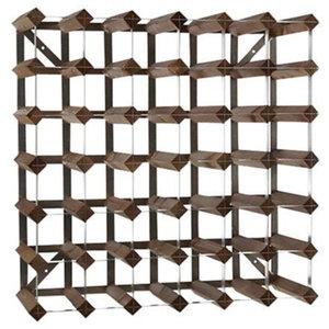 XXLselect Weinregal 42 Flaschen - 61,2 x 22,8 x (h) 61,2cm - Holz / Metall