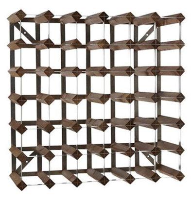 Bar Professional Weinregal 42 Flaschen - 61,2 x 22,8 x (H) 61,2cm - Holz / Metall