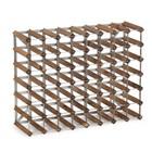 XXLselect Weinregal 56 Flaschen - 80,4 x 22,8 x (h) 61,2cm - Holz / Metall
