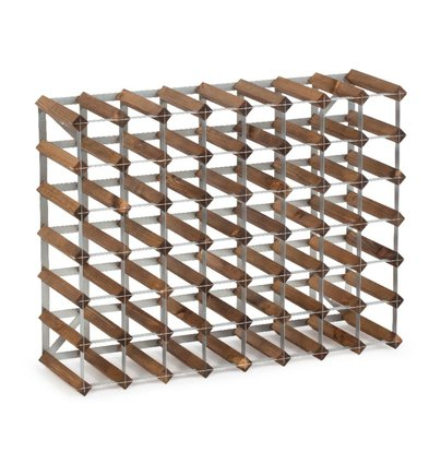 Bar Professional Weinregal 56 Flaschen - 80,4 x 22,8 x (h) 61,2cm - Holz / Metall