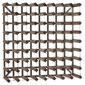 XXLselect Wijnrek 72 flessen - 80,4 x22,8 x (h) 80,4cm - Hout / Metaal