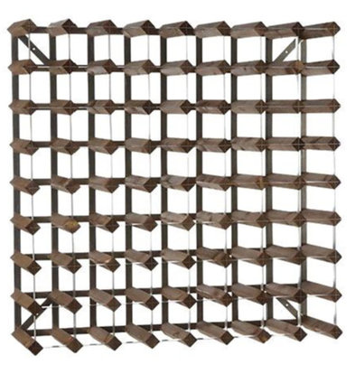 XXLselect Wine Rack 72 Flaschen - x22,8 x 80,4 (H) 80,4cm - Holz / Metall