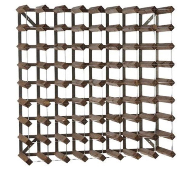 XXLselect Wine Rack 72 Flaschen - x22,8 x 80,4 (H) 80,4cm - Holz / Metall