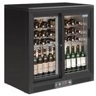 Polar Wijnkoelkast - Barkoelkast - Met 2 schuifdeuren - 56 Flessen - 920x530,5x(H)920mm