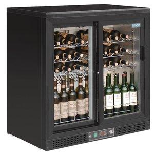 Polar Wine Fridge - Drinks chiller - with two sliding doors - 56 Bottles - 920x530,5x (H) 920mm