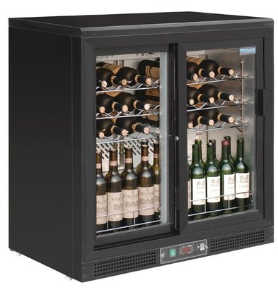 Polar Wine Fridge - Drinks chiller - with two sliding doors - 56 Bottles - 920x530,5x (H) 920mm