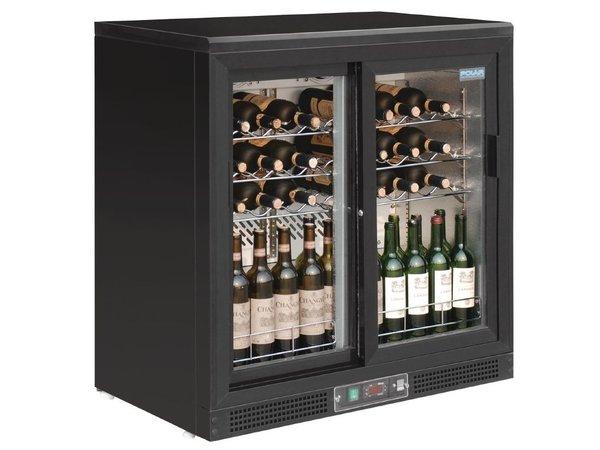 Kühlschrank Getränke : Polar wein kühlschrank getränke kühler mit zwei schiebetüren