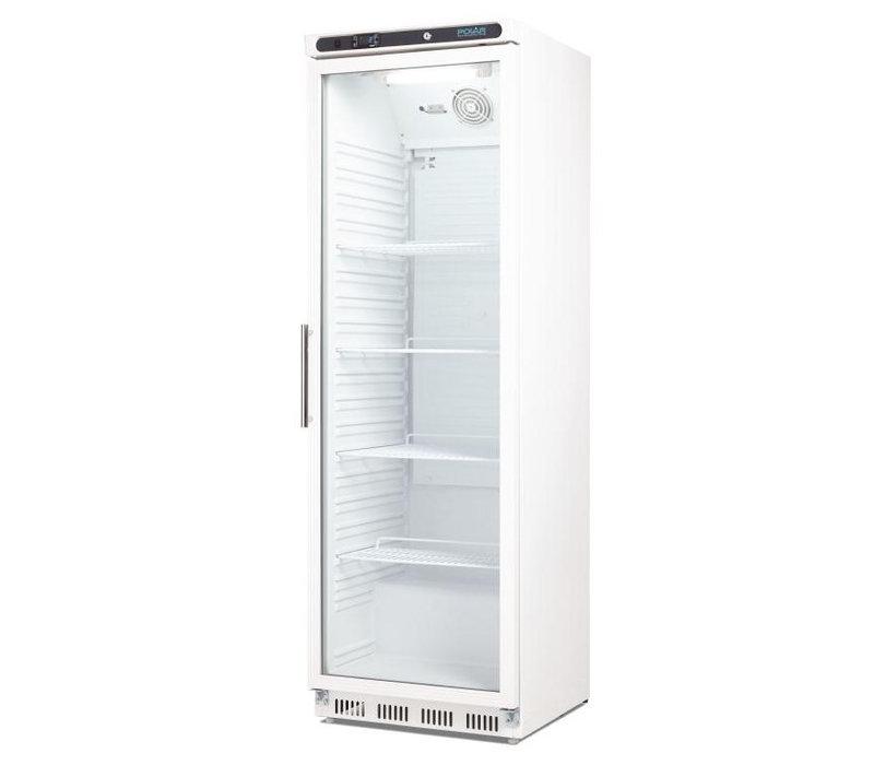 Polar Fridge with glass door - Lighting - Display - 400 Liter - 60x60x (h) 185cm