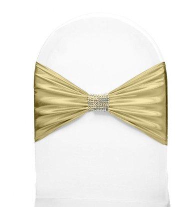 Unicover Stuhlband mit silbernen Ketten | One Size | Creme