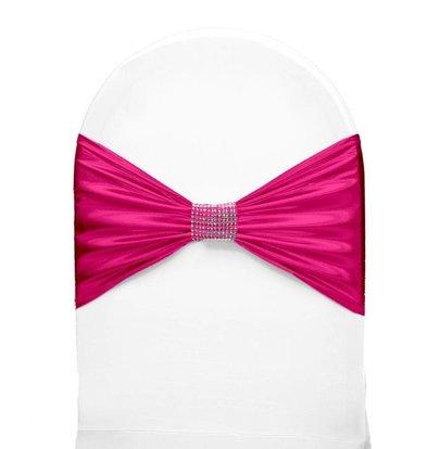 Unicover Stoelband met Zilverbandje | One Size | Roze
