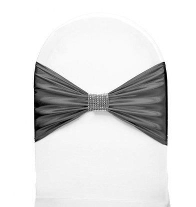 Unicover Stuhlband mit silbernen Ketten | One Size | grau