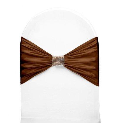 Unicover Stuhlband mit silbernen Ketten | One Size | Schokolade
