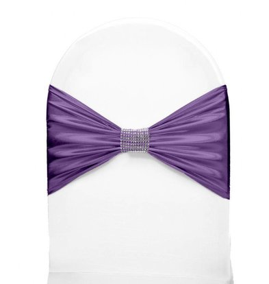 Unicover Stuhlband mit silbernen Ketten | One Size | Lavendel