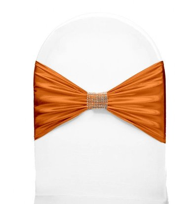 Unicover Stoelband met Zilverbandje | One Size | Oranje