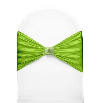 Unicover Stuhlband mit silbernen Ketten | One Size | hellgrün