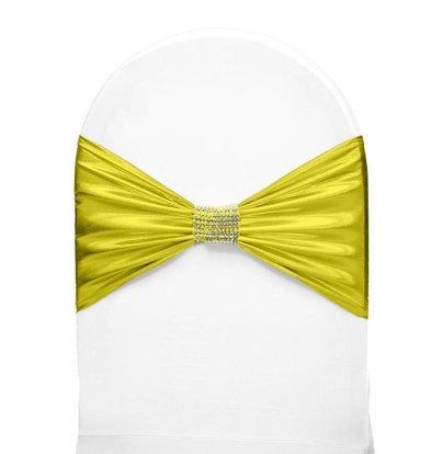 Unicover Stuhlband mit silbernen Ketten | One Size | gelb