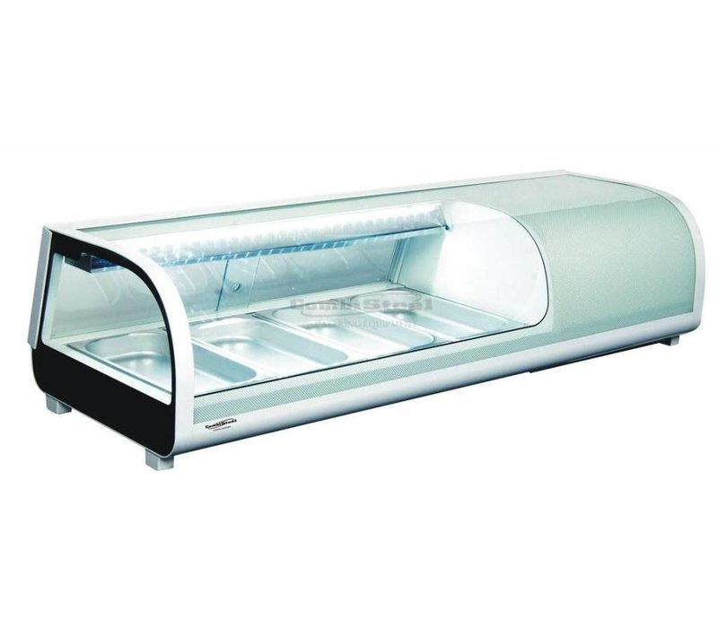 Combisteel Sushi Vitrine | 4x GN 1/3 | 1177x420x265 (h) mm
