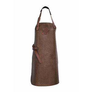 XXLselect Leather Apron Cayman | Cognac | Large 74 (L) x60 (W) cm | Adjustable | printing possible