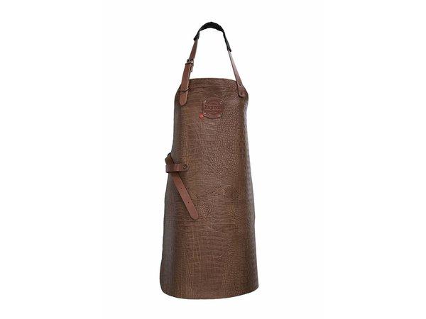 XXLselect Leather Apron Cayman | Cognac | Large 74 (L) x60 (W) cm | Adjustable | printing possible