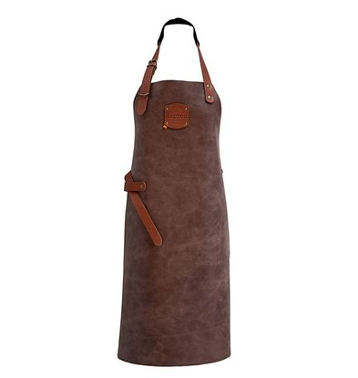 XXLselect Leather Apron Florida | Brown | 74 (L) x60 (W) cm | Adjustable | printing possible