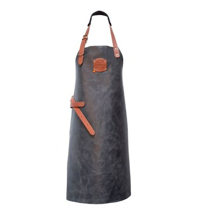 XXLselect Leather Apron Florida | Antra | Large 82 (L) x60 (W) cm | Adjustable | printing possible