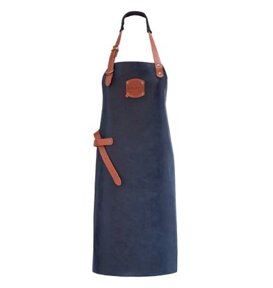 XXLselect Leather Apron Florida | Blue | For Heavy Women | XL 89 (L) x70 (W) cm | Adjustable | printing possible