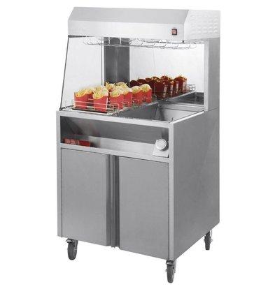 Casselin Pommes frites Warming Unit | 9 Regale | 1,2kW | 800x700x1500 (h) mm