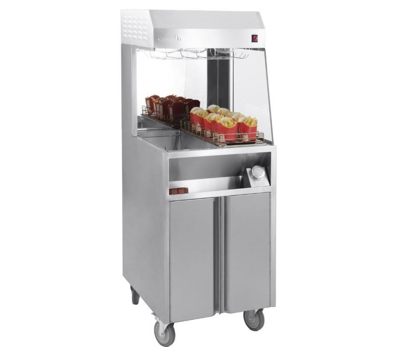 Casselin Pommes frites Warming Unit | 9 Racks | 900W | 600x700x1500 (h) mm