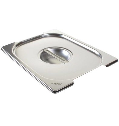 Vogue Stainless steel lid GN1 / 2 | with Handles