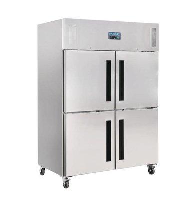 Polar Polar Gastro 2-türig Kühl geteilten Türen 1200ltr