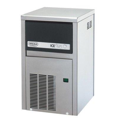 Brema IJsblokjesmachine 21kg/24u | Bunker 4kg | Brema CB 184 RVS
